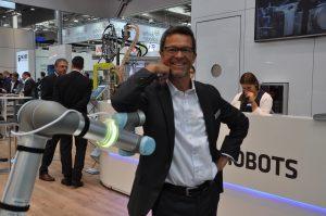 """""""Die Sicherheit ist das A und O bei der MRK."""" Helmut Schmid, Universal Robots. (Bildquelle: Redaktion IEE)"""