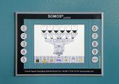 Die Trockner und Dosierer der Somos-Baureihen sind mit netzwerkfähigen SPS-Steuerungen ausgestattet. Diese lassen sich intuitiv an einem Touchscreen mit grafischer Benutzeroberfläche bedienen. (Bildquelle: Protec)