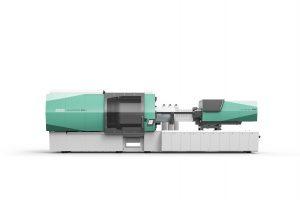 Der Allrounder 920 H mit 5.000 kN erhielt zur Fakuma 2017 als zweite Spritzgießmaschine das neue Maschinendesign und die neue Steuerung. Er ist ab März 2018 erhältlich. (Bildquelle: Arburg)