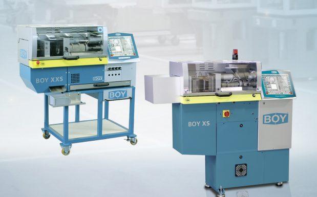 Platz 5: Die beiden kleinsten Spritzgießmaschinentypen Boy XS und Boy XXS von Dr. Boy, Neustadt-Fernthal, lassen sich mit dem Schneckendurchmesser 8 mm und 1,9 cm³ Gangvolumen einsetzen.  (Bildquelle: Dr. Boy)