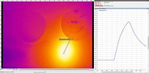 Mit dem neuen Verfahren für hochglanzpolierte Werkzeugbereiche ist es möglich, sowohl punktuelle als auch bereichsweise Temperaturmessungen vorzunehmen. Die Temperaturverläufe können abgebildet werden – in Echtzeit und visualisiert in einem Temperatur-Zeit-Diagramm.