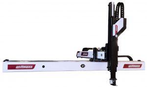Ebenfalls im Jahr 2017 vorgestellt wurde der Roboter W853 pro. Mit seinem Traggewicht von 45 kg nimmt er den Platz zwischen dem W843 pro mit 35 kg und dem W863 pro mit 75 kg Tragkraft ein. (Bildquelle: Wittmann)