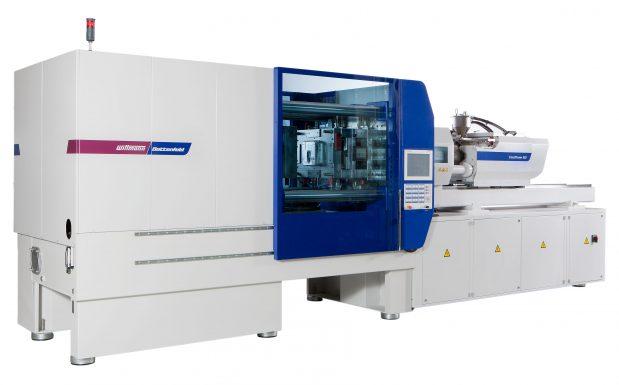 Platz 2: Die Spritzgießmaschinen der Smartpower-Reihe von Wittmann Battenfeld, Kottingbrunn, Österreich, verfügen im Standard über einen hocheffizienten Servohydraulikantrieb und nutzen über KERS die verfügbare Bremsenergie für die Schneckenzylinderheizung. (Bildquelle: Wittmann Battenfeld)
