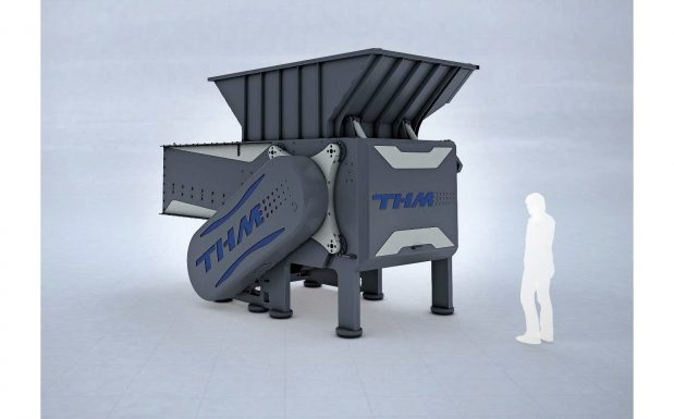 Platz 9: Der Universal-Schredder RSP2000 erweitert die THM Recycling Solutions, Eppingen-Mühlbach, verfügt über einen sequenziellen Nachdrücker. Dieses Verfahren setzt auf mehrere Nachdrückereinheiten, die unabhängig voneinander arbeiten und dem Rotor den Abfall kontinuierlich zuführen. (Bildquelle: THM)