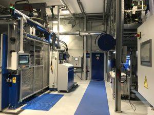 Die Partikelschäumanlage lässt sich bei Bedarf mit einer Thermo-Foamer-Ausrüstung für das dampfarme Partikelschäumen umstellen. (Bildquelle: T. Michel Formenbau)