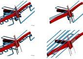Das Bauteil (rot) sollte in unter 60 Sekunden produziert werden. Die neue Technologie half bei der Ermittlung des besten Temperierkonzepts. (Bildquelle: Sigma)