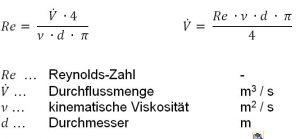 Gleichung 1: Hinweis: Bei parallel geschalteten Temperierkanälen ist die Betrachtung für jeden einzelnen Kreislauf durchzuführen. Der gesamte Durchfluss entspricht schließlich der Summe aller Teildurchflüsse.