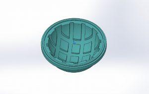 Variante 1: Kapsel mit Fügebund und Rippenstruktur