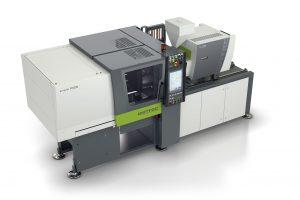Die Spritzgießmaschinen der E-Win-Baureihe führen sämtliche Maschinenbewegungen servoelektrisch aus. Mit Schließkräften von 55 bis 310 US-Tonnen eignen sich diese Maschinen für ein breites Anwendungsspektrum. (Bildquelle: Wintec)