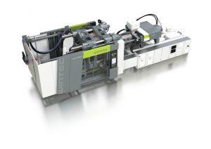 Die hydraulischen Zwei-Platten-Maschinen der T-Win-Baureihe von Wintec sind in Amerika mit Schließkräften von 500 bis 1900 US-Tonnen erhältlich. (Bildquelle: Wintec)