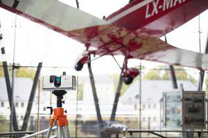 3D-Scanner bei der Flugzeugvermessung (Bildquelle: Artec 3D)