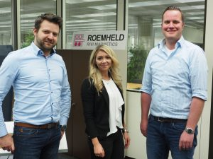 (Vlnr) Produktmanager Matthias Althaus, Laura Szislowski, Mitarbeiterin Vertrieb/Innendienst, Teamleiter Vertrieb Sebastian Veit. (Bildquelle: Römheld)