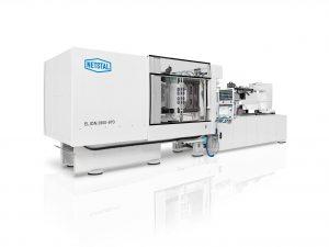 Die vollelektrische Spritzgießmaschine mit MED-Kit sorgt für hohe Präzision im Reinraum. (Bildquelle: Netstal)