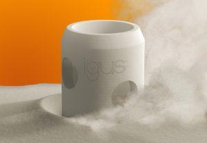 Im SLS-Druckverfahren lassen sich mit den entsprechenden Materialien komplexe und große Sonderteile sehr schnell fertigen. (Bildquelle: Igus)
