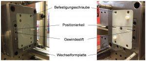Die Konstruktion der Werkzeuge sollte auf die Verwendung von Spannrahmen ausgelegt sein, um die im Fertigungsprozess entstehenden Belastungen auf das Werkzeug besser aufnehmen zu können. (Bildquelle: RWTH)