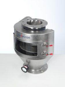 Der halbrund gebaute HR45 Deduster arbeitet mit einer neuen Technik zur Staubentfernung. (Bildquelle: Pelletron)