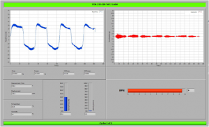 Die beiden Diagramme zeigen die Testergebnisse von Reibpaarungen zwischen Leder und Standard-ABS (links) sowie Leder mit Rotec-ABS mit Antiknarz-Ausrüstung. Deutlich zu erkennen ist der der hohe Reibwiderstand mit dem Standard ABS (RPN = 9) und der geringe Reibwiderstand mit RPN = 22 mit dem Kunststoff Rotec ABS antiknarz-modifiziert. (Bildquelle: Romira)