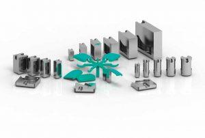 Tunnelangusseinsätze: In unterschiedlicher Form und Größe erhältlich ermöglichen diese Einsätze Einsparungen in Formenbau und Spritzguss. (Bildquelle: I-Mold)