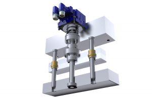 Linearantriebe für Zahnstangen- und Plattenbewegungen, Schieber und Kernzüge ermöglichen durch ihre geringer Aufbauhöhe besonders kompakte Werkzeugkonstruktionen. (Bildquelle: I-Mold)