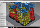 Das automatische Nesting der Software ermöglicht das effiziente Packen des Bauraums innerhalb weniger Minuten. (Bildquelle: Core Technologie)