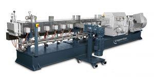 Die Herstellung hochwertiger Recycling-Compounds, das Upcycling, erfolgt im gleichläufigen Doppelschneckenextruder. (Bildquelle: Coperion)