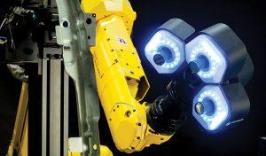 Das 3D-Messsystem bietet dieselben Technologiestandards der High-End-Lösungen, wurde aber speziell für den Einsatz mit kleineren Robotern entwickelt. (Bildquelle: Hexagon)