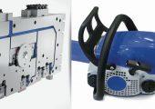 Die Heißkanaltechnologie mit servoelektrisch angetriebenen Verschlussnadeln ist eine ideale Lösung für das GID-Spritzgießen des innen hohlen Griffbügels für eine Kettensäge.  (Bildquelle: HRS Flow)
