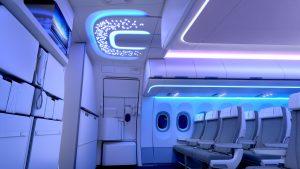 Neben den Gepäckablagen und Deckenpaneelen entwickelt und fertigt FACC jetzt auch den Eingangsbereich der neuen Airspace-Kabine für die Airbus-A320-Flugzeuge. (Bildquelle: FACC)