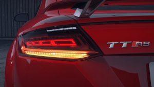 Die OLED-Heckleuchte beim Audi TT kommt von Olsa. (Bildquelle: Magna international)