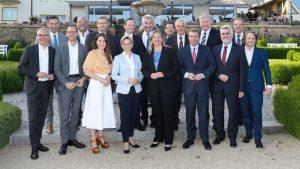 Gruppenfoto bei der Wirtschaftsministerkonferenz am 27. und 28. Juni 2018 am Bostalsee im Saarland. (Bildquelle: MWAEV Saarland, Iris Maurer)
