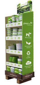 Mittlerweile ist eine Vielzahl an Artikeln aus dem Sortiment von Gies auch aus dem biobasierten Material unter den Namen Greenline erhältlich. (Bildquelle: Gies)