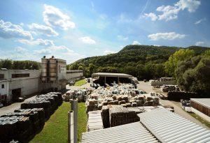 Ecoplast Recycling in Wildon, Österreich, verarbeitet jährlich rund 35.000 t Post-Consumer-Kunststoffabfälle und wandelt sie in hochwertige LDPE- und HDPE-Rezyklate um. (Bildquelle: Borealis)