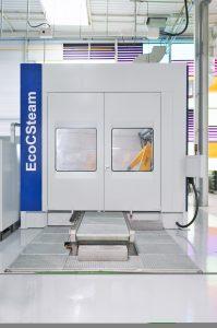 Als Alternative zu Powerwash-Systemen wurde das innovative und platzsparende Dampfreinigungssystem entwickelt.