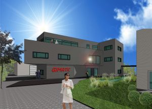 Die gute Konjunktur und die Erweiterung des Vertriebsgebietes auf Österreich und die Schweiz sorgten bei Gimatic für ein Wachstum, dass das Unternehmen nach zwei Jahren die Büro-, Lager- und Montageflächen erneut ausbauen muss. (Bild: Gimatic Vertrieb)