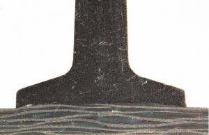 Versteifungsrippe mit ausgeprägtem Rippenfuß im Schliffbild (Bildquelle: ILK)