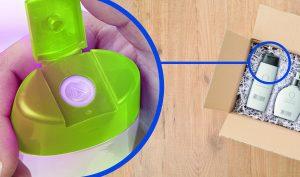 Eine cleverer Verschluss für Flaschen und Tuben – er besteht aus einer Hartkomponente (PP) und einem schlitzartigen Dosierventil aus TPE. Dieses Ventil ermöglicht ein präzises Dosieren ohne Nachtropfen und macht es damit auch auslaufsicher. (Bildquelle: Kraiburg TPE / Georg Menshen)