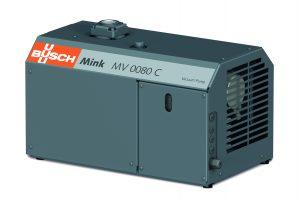 Klauen-Vakuumpumpe mit integriertem Frequenzregler zur bedarfsabhängigen Regelung von Enddruck und Saugvermögen (Bildquelle: Busch Dienste)
