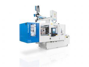 Bei der systematischen Untersuchungen der Biopolymere spielte die vollhydraulische CX-Maschine von KraussMaffei ihre Vorteile als besonders kompakte, effiziente und flexible Zwei-Platten-Maschine aus. (Bildquelle: Krauss Maffei)