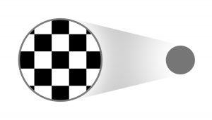 Bild 4: Bei der Farbmessung eines Schwarzweiß-Schachbrettmusters würde ein Spektralphotometer die Werte für Schwarz und Weiß mitteln und einen Messwert für Grau anzeigen. Mit den neueren Messgeräten werden die einzelnen Farben erkannt. (Bildquelle: X-Rite)