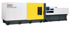 Die vollelektrische Spritzgießmaschine mit 4.500 kN Schließkraft wird erstmalig in Europe vorgestellt. (Bildquelle: Fanuc)