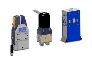 Greifzange mit beschichteter EP-Greifbacke und Angusskontrolle, elektrischer Parallelgreifer, elektrischer Nadelgreifer (Bildquelle:  ASS)