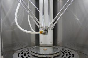 Innenansicht des 3D-Druckers (Bildquelle: Kumovis)