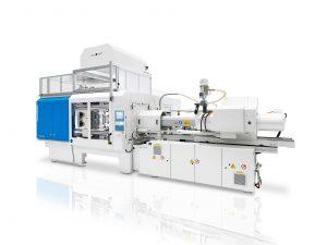 Besonders kompakt und zugleich flexibel: Die neue Spritzgießmaschine mit integrierter Automationszelle Bildquelle: KraussMaffei