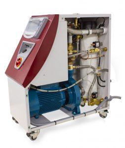 Das neue Wasser-Temperiergerät Tempro plus D120/1-L ist für große Werkzeuge ausgelegt und kann bis maximal 36 kW Heizleistung ausgelegt werden. (Bildquelle: Wittmann)