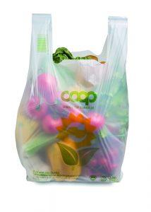 Leichte, kompostierbare Tragetasche (Bildquelle: Unicoop)