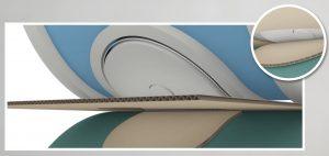 Federelemente bei Stanz- und Rotationsformen für die Herstellung von Verpackungen. (Bildquelle: Marbach Gruppen)