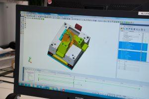Bild 2X Visi Modelling liefert bereits in der Standardversion alle wichtigen Funktionen für die Bewegungsanalyse mit. Heute werden bei Kellermann grundsätzlich alle mechanischen Bauteile überprüft, die sich im Werkzeug bewegen.