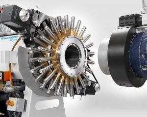 Mit der Quickswitch-Extrusionsanlage von Krauss-Maffei wird GF Piping Systems in Malaysia HDPE-Rohre mit Durchmessern von 160 bis 250 mm produzieren. (Bildquelle: Krauss-Maffei)