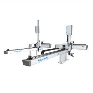 Ideal für einfache Pick-and-Place-Anwendungen:   der neue Linearroboter (Bildquelle: Krauss Maffei)