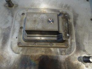 Werkzeugkern mit integrierter Messsonde zur Überwachung des Füllvorgangs (Bildquelle: Simone Fischer/Redaktion Plastverarbeiter)